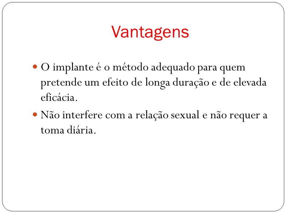 Vantagens O implante é o método adequado para quem pretende um efeito de longa duração e de elevada eficácia.