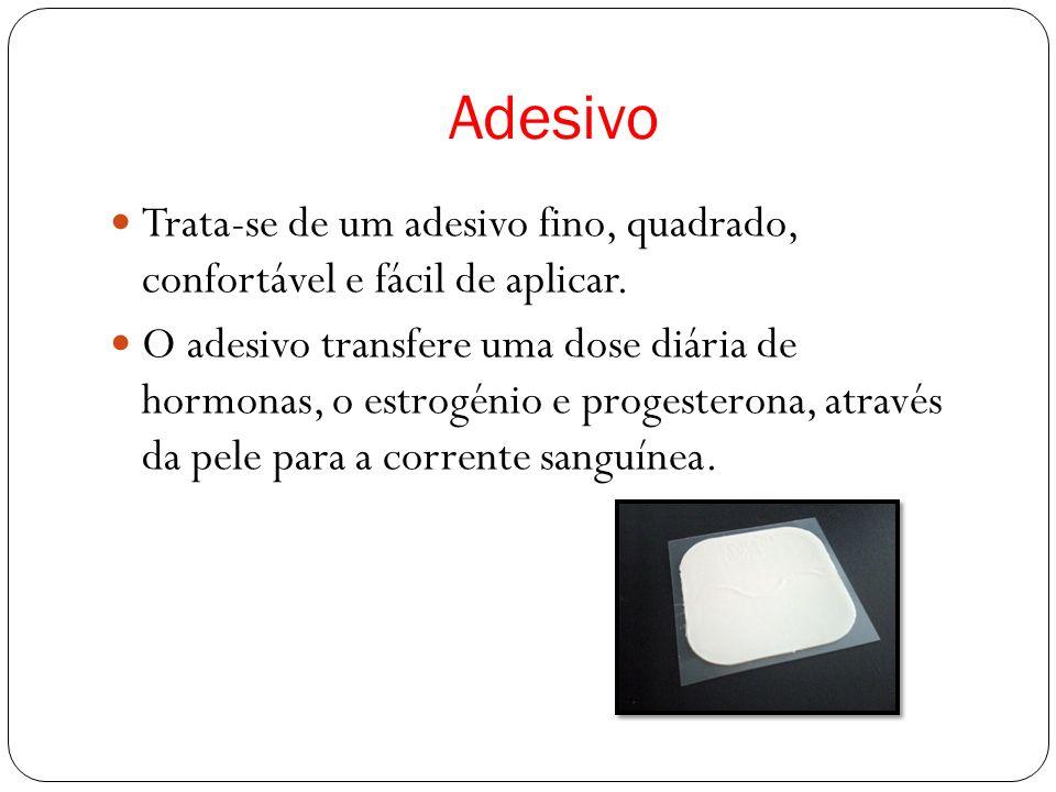 Adesivo Trata-se de um adesivo fino, quadrado, confortável e fácil de aplicar.