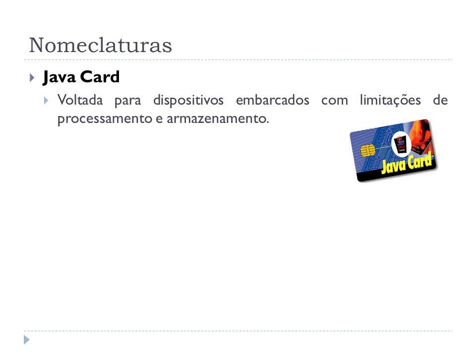 Nomeclaturas Java Card