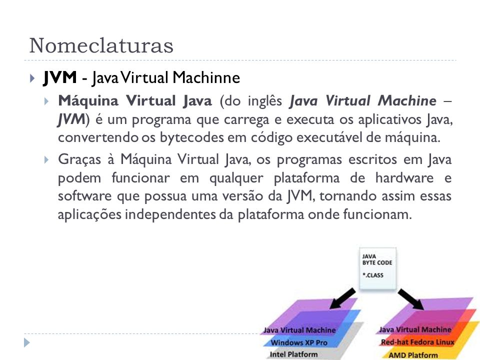 Nomeclaturas JVM - Java Virtual Machinne