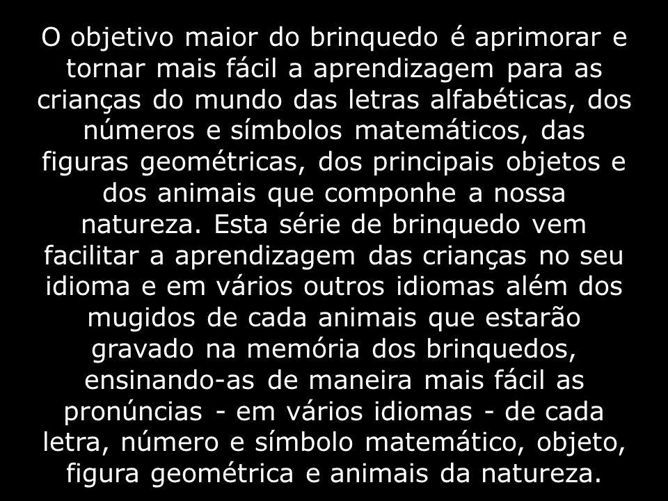 O objetivo maior do brinquedo é aprimorar e tornar mais fácil a aprendizagem para as crianças do mundo das letras alfabéticas, dos números e símbolos matemáticos, das figuras geométricas, dos principais objetos e dos animais que componhe a nossa natureza.