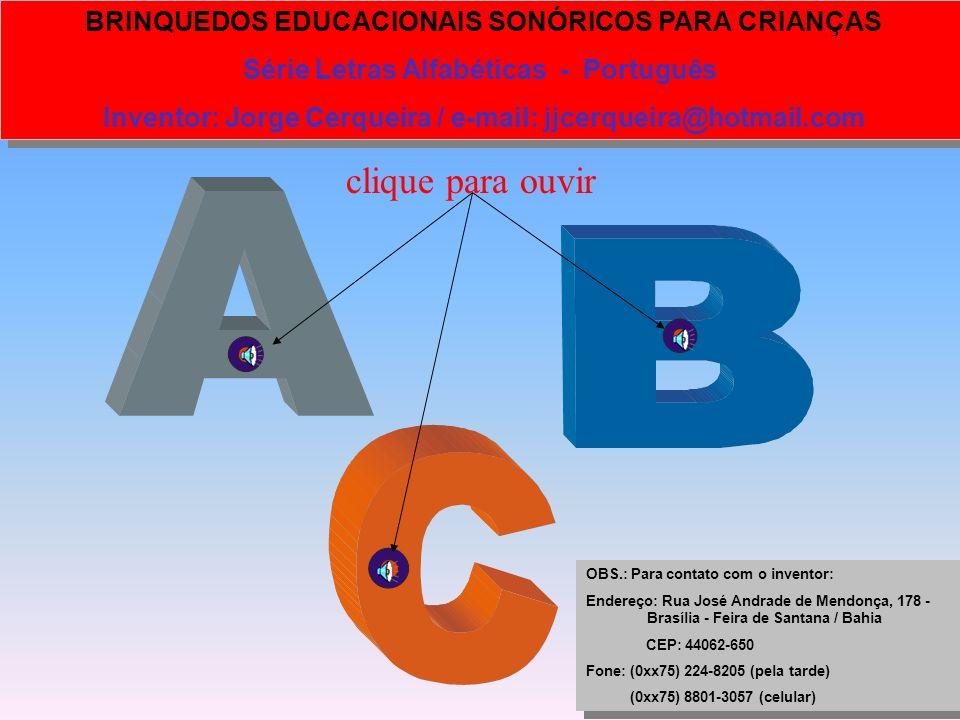 clique para ouvir Série Letras Alfabéticas - Português