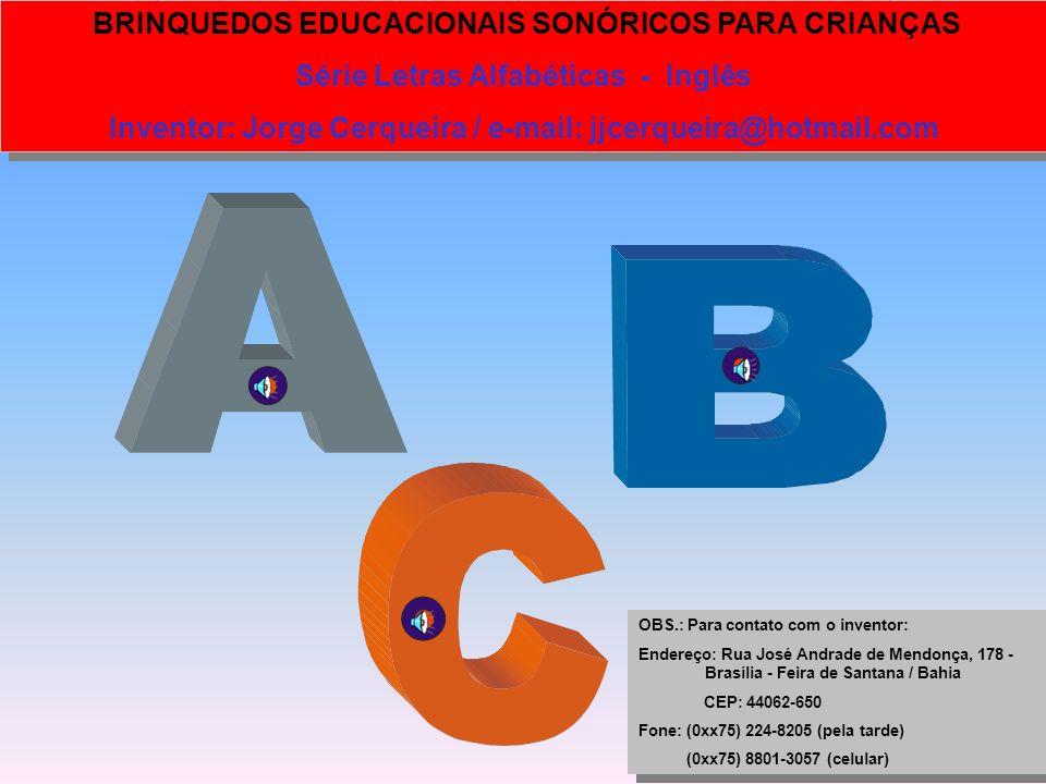 Série Letras Alfabéticas - Inglês