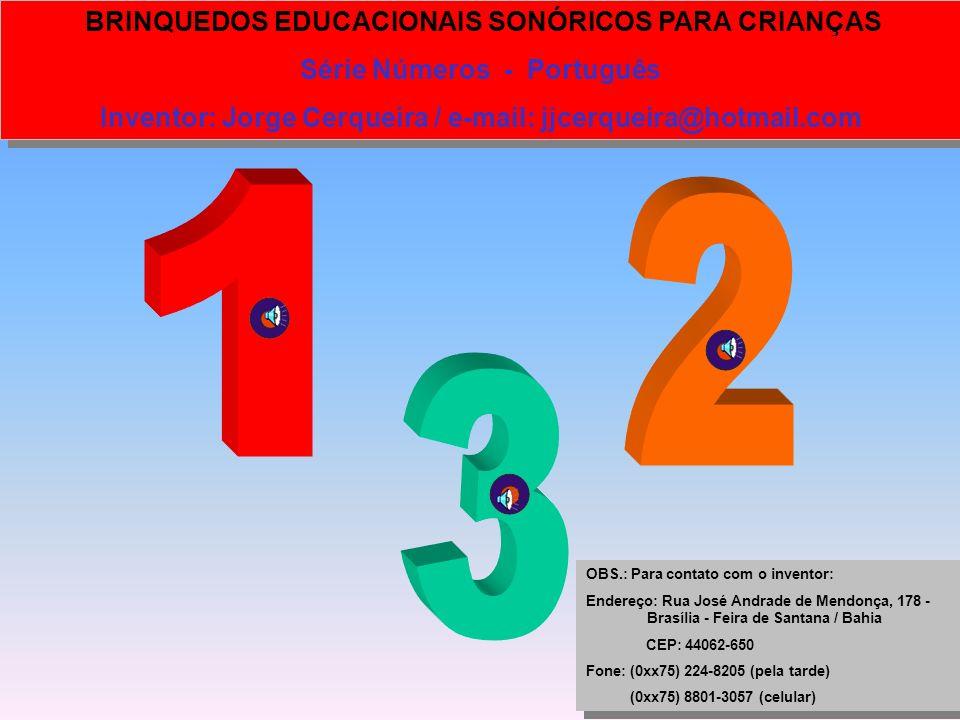 1 2 3 Série Números - Português