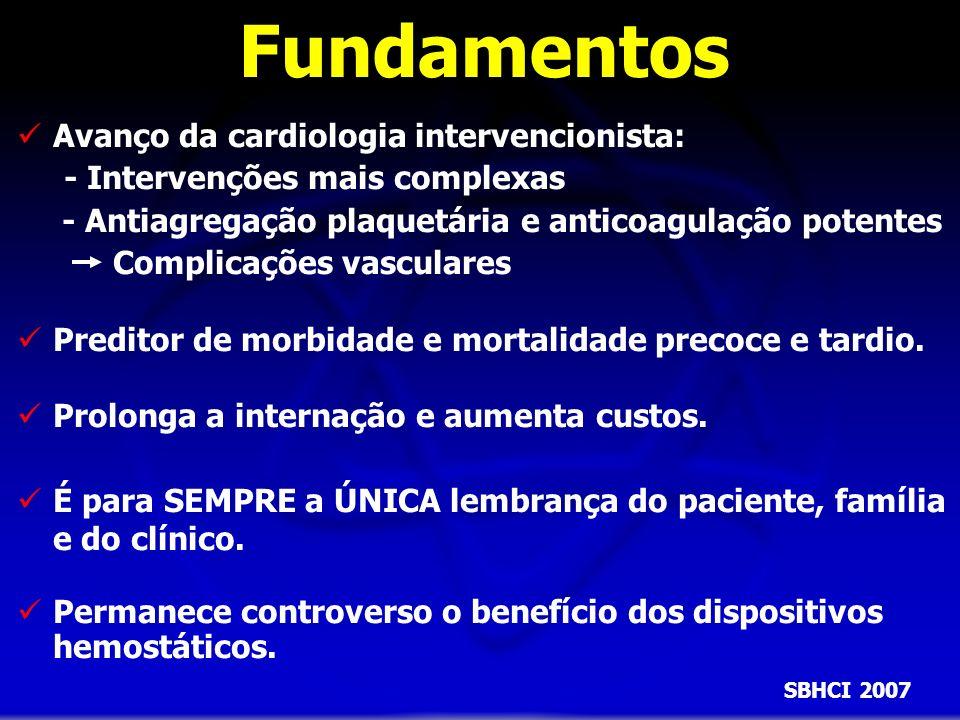 Fundamentos Avanço da cardiologia intervencionista: