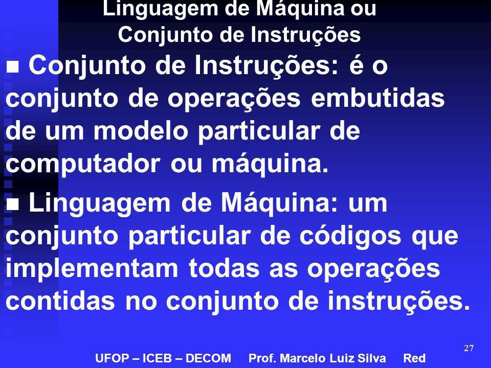 Linguagem de Máquina ou Conjunto de Instruções