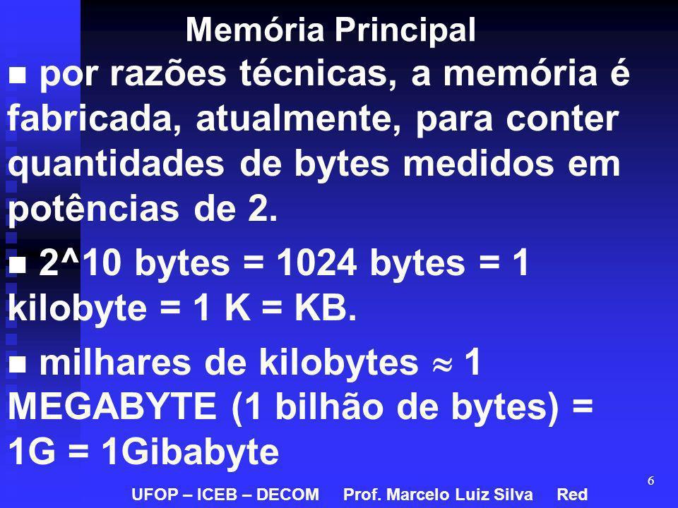 2^10 bytes = 1024 bytes = 1 kilobyte = 1 K = KB.