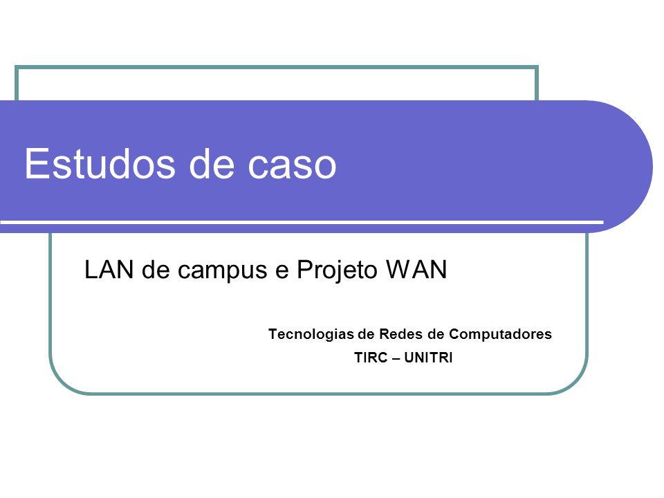 Estudos de caso LAN de campus e Projeto WAN