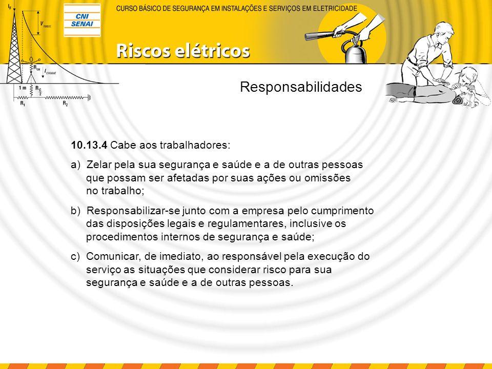 Responsabilidades 10.13.4 Cabe aos trabalhadores: