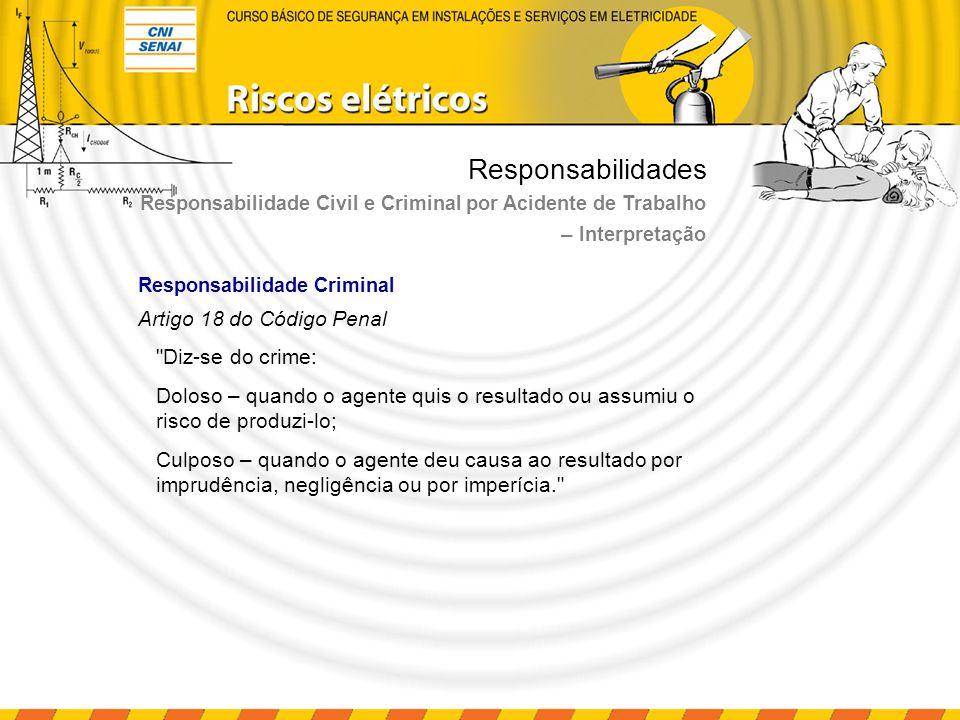 Responsabilidades – Interpretação Artigo 18 do Código Penal