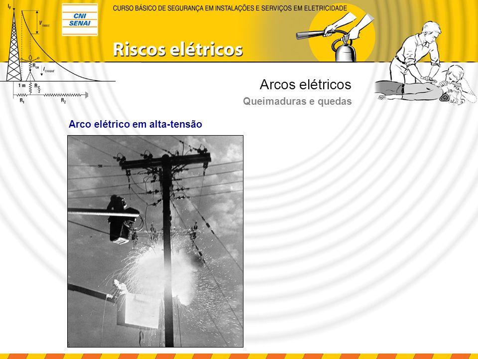 Arcos elétricos Queimaduras e quedas Arco elétrico em alta-tensão