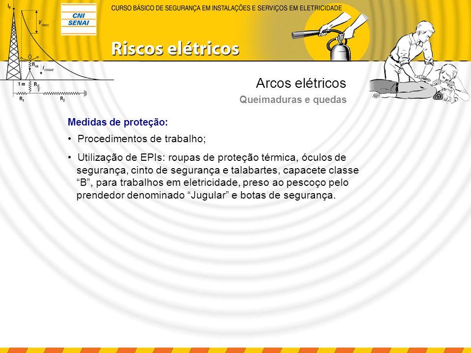 Arcos elétricos Procedimentos de trabalho;