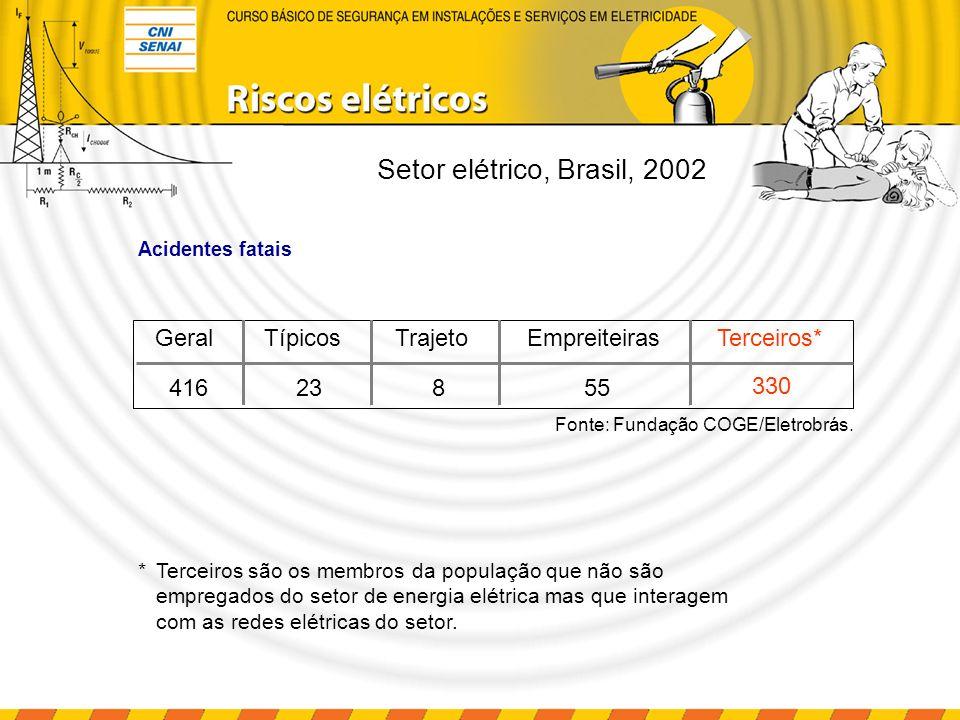 Setor elétrico, Brasil, 2002 Geral Típicos Trajeto Empreiteiras