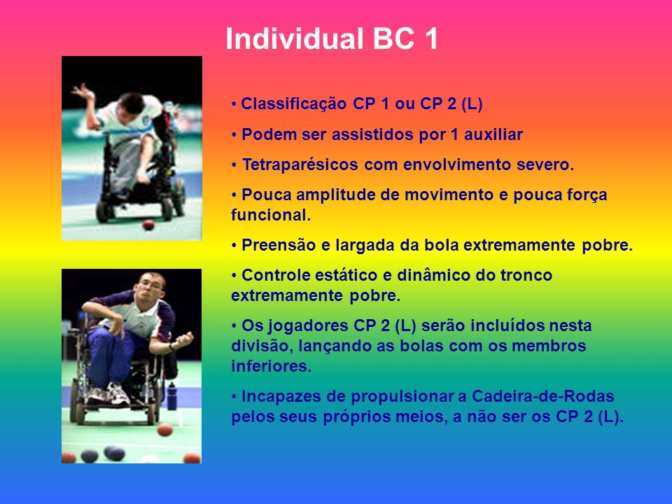Individual BC 1 Classificação CP 1 ou CP 2 (L)