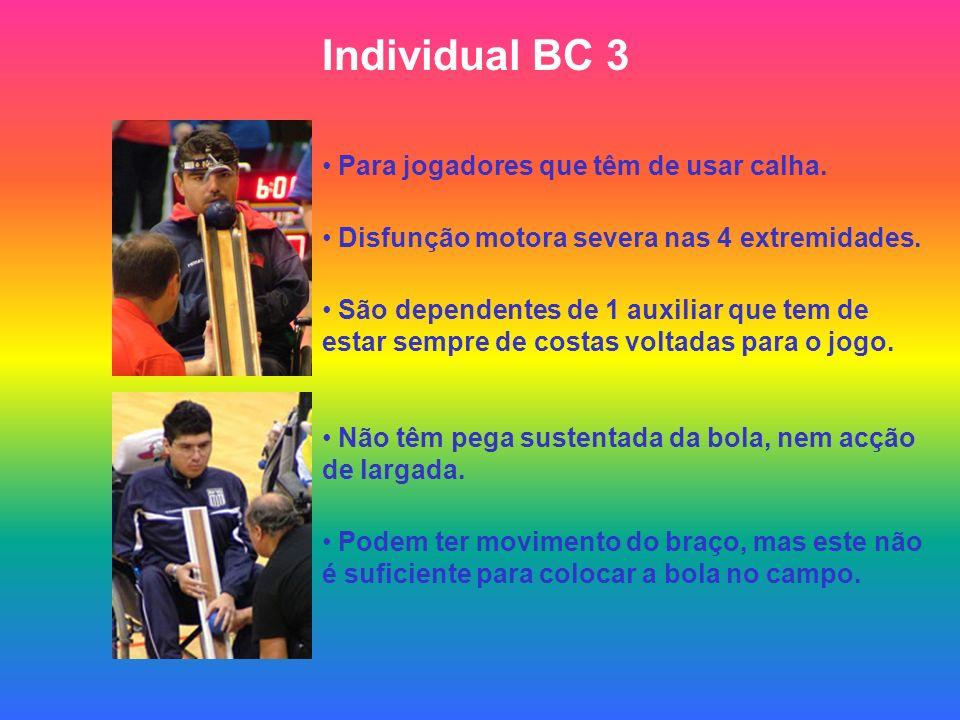 Individual BC 3 Para jogadores que têm de usar calha.
