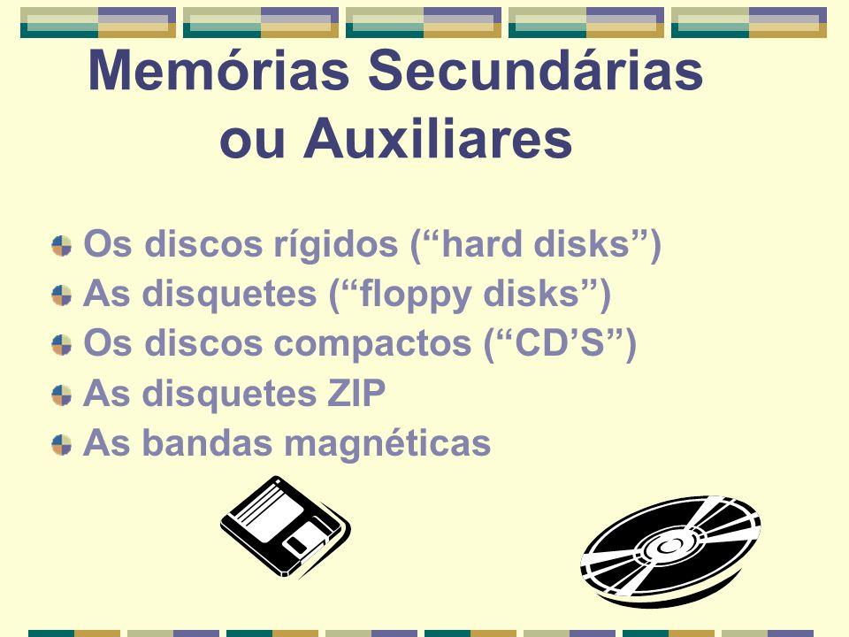 Memórias Secundárias ou Auxiliares