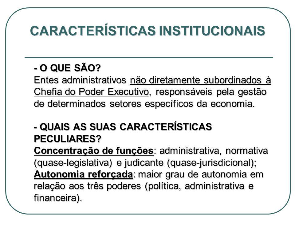 CARACTERÍSTICAS INSTITUCIONAIS