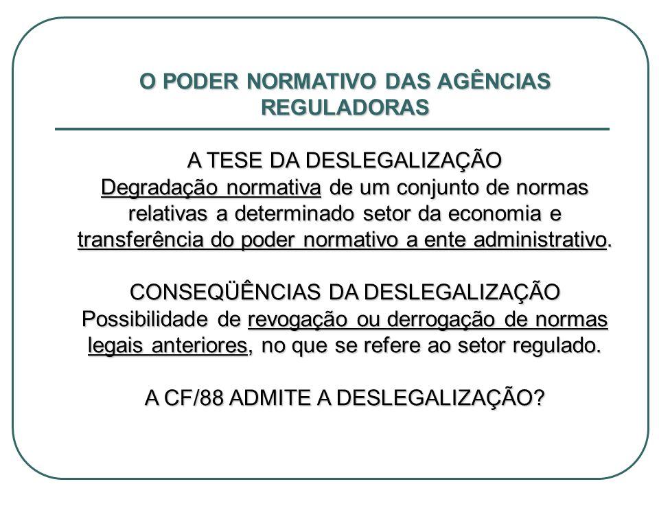 O PODER NORMATIVO DAS AGÊNCIAS REGULADORAS