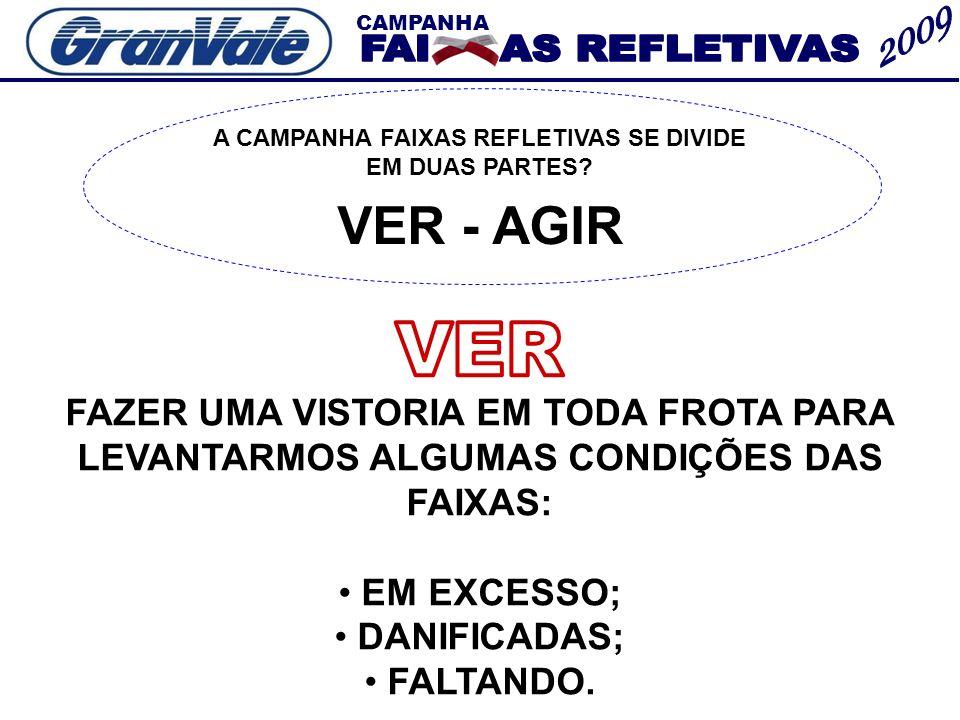 A CAMPANHA FAIXAS REFLETIVAS SE DIVIDE