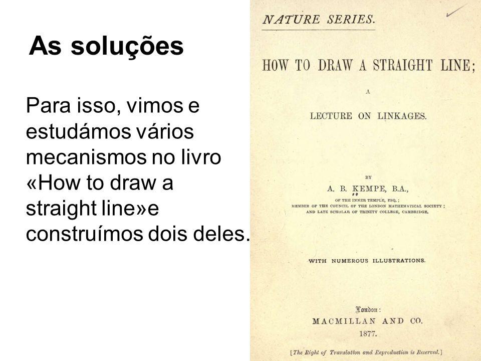 As soluções Para isso, vimos e estudámos vários mecanismos no livro