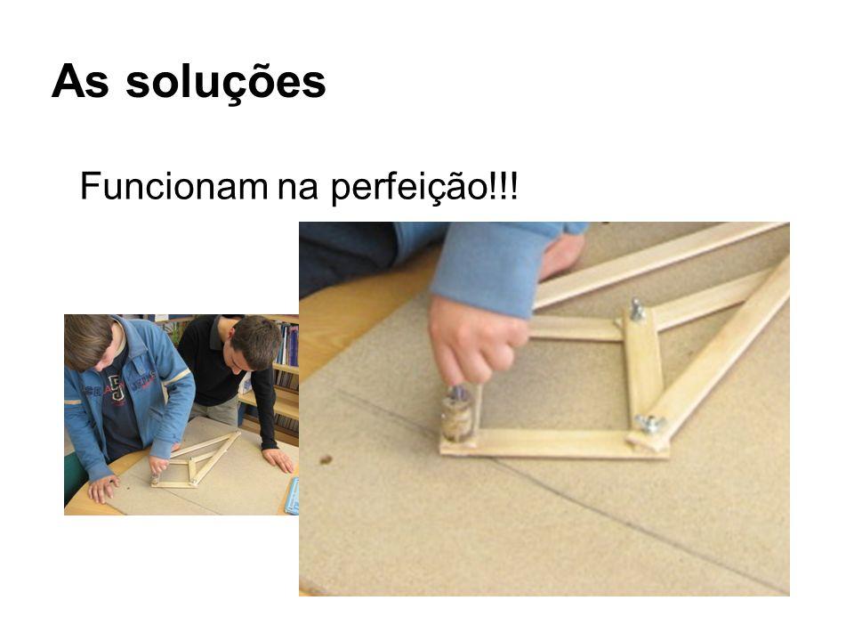 As soluções Funcionam na perfeição!!!