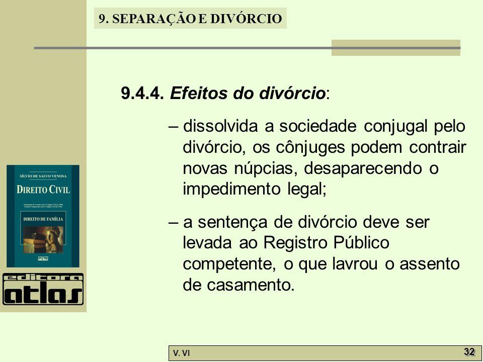 9.4.4. Efeitos do divórcio: