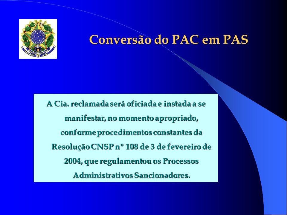 Conversão do PAC em PAS