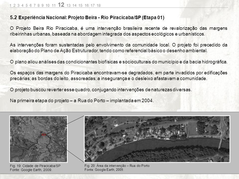 5.2 Experiência Nacional: Projeto Beira - Rio Piracicaba/SP (Etapa 01)