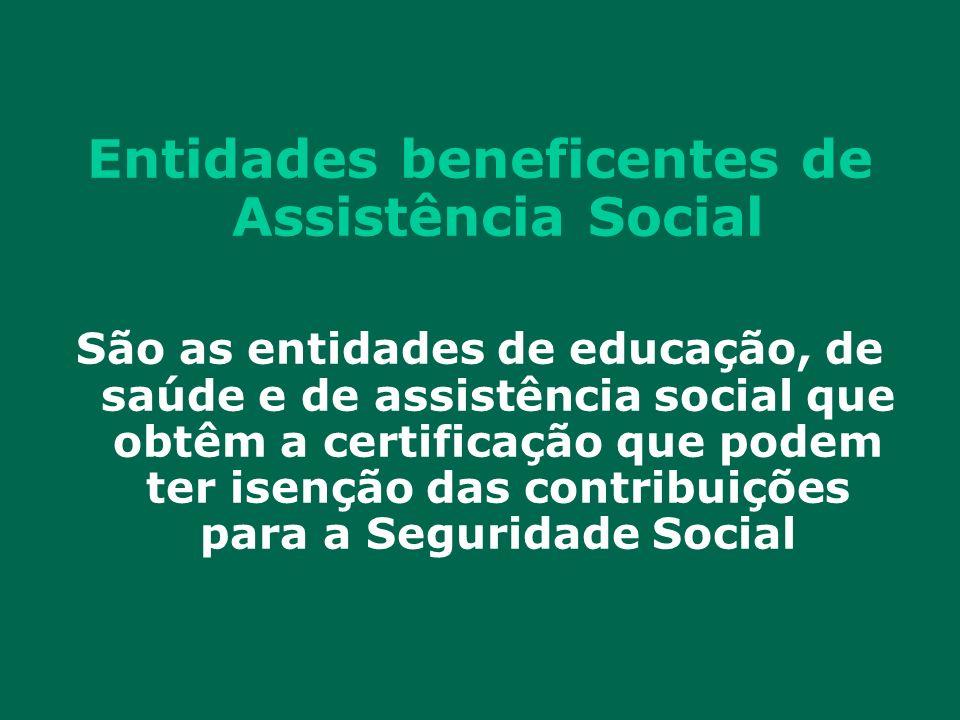 Entidades beneficentes de Assistência Social