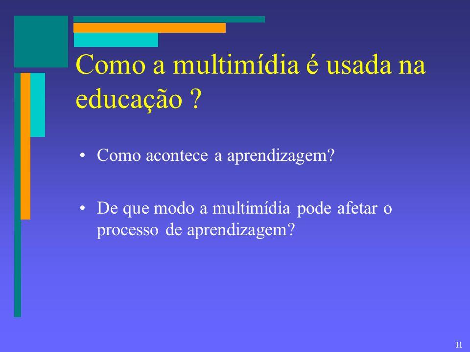 Como a multimídia é usada na educação