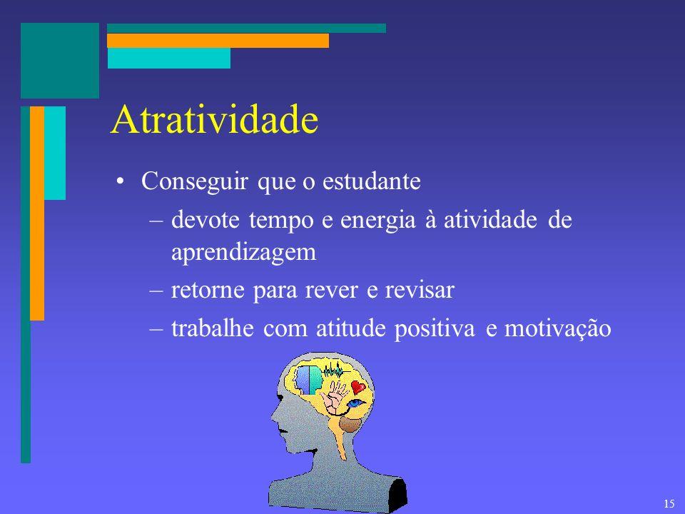 Atratividade Conseguir que o estudante