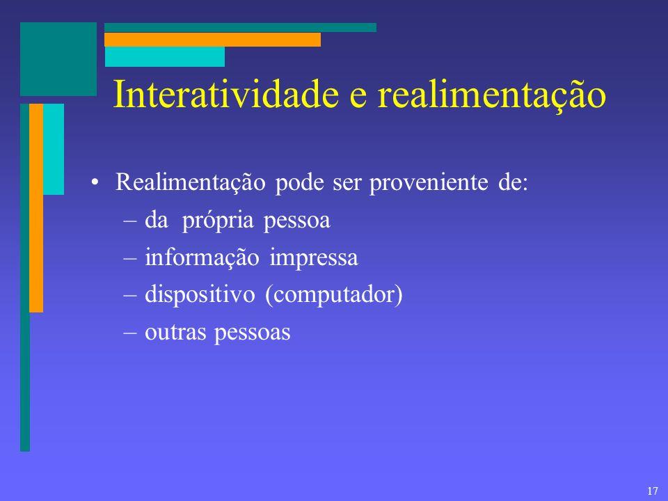Interatividade e realimentação