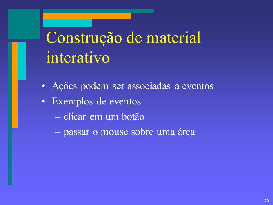 Construção de material interativo