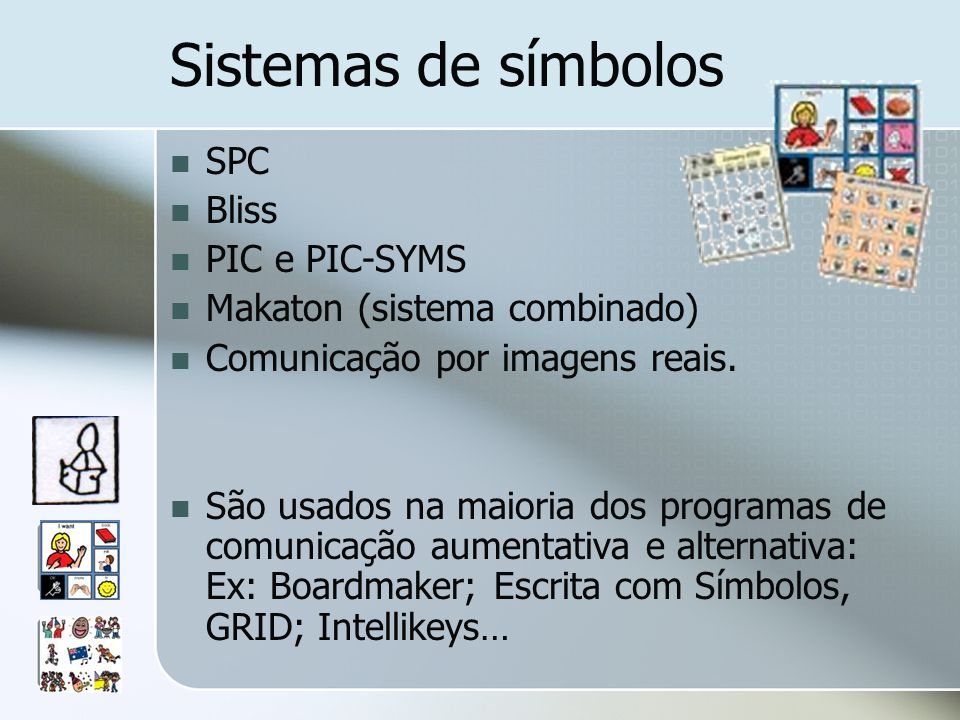 Sistemas de símbolos SPC Bliss PIC e PIC-SYMS
