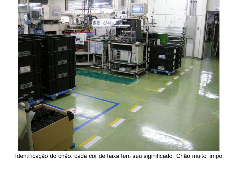 Identificação do chão: cada cor de faixa tem seu siginificado