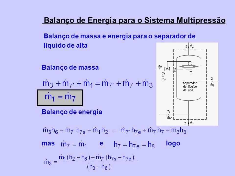 Balanço de massa e energia para o separador de líquido de alta