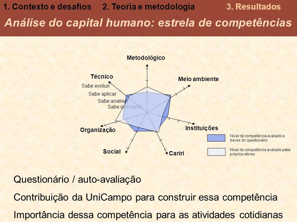 Análise do capital humano: estrela de competências