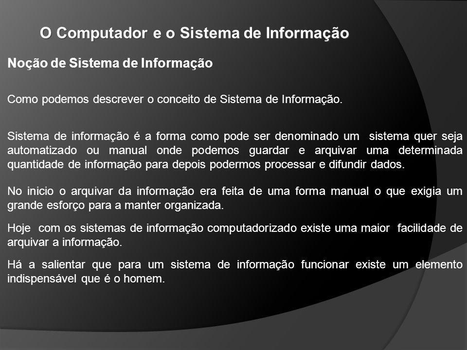 Noção de Sistema de Informação