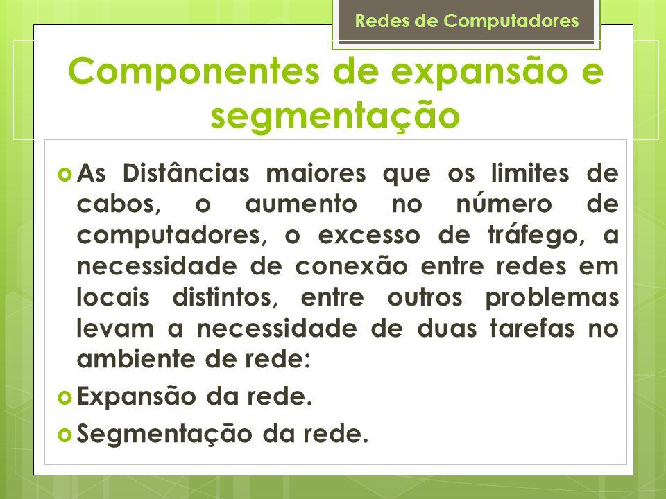 Componentes de expansão e segmentação