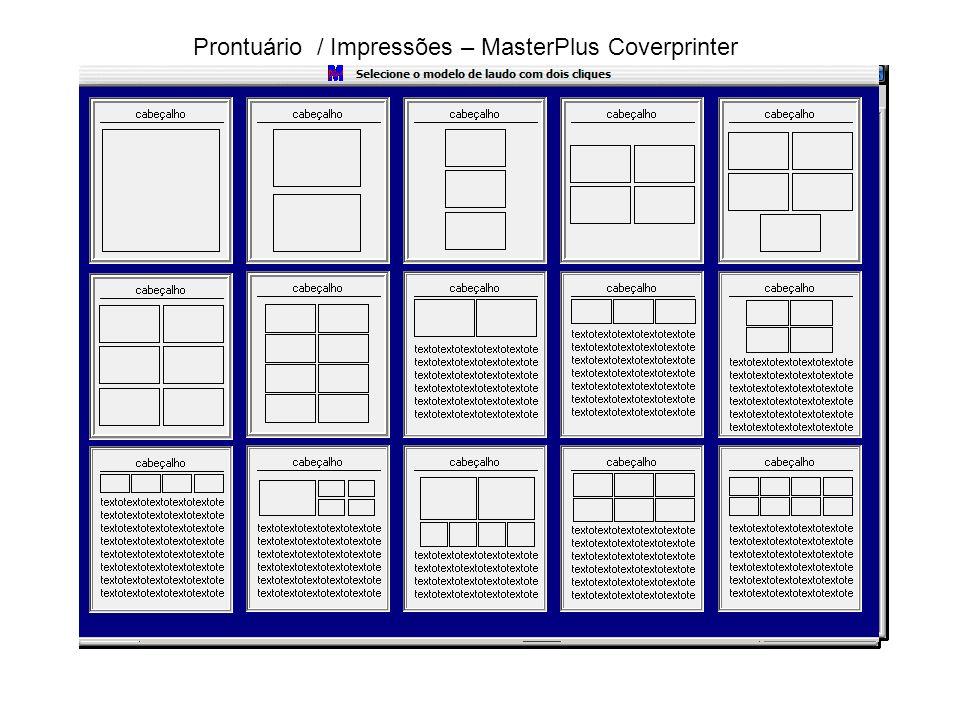 Prontuário / Impressões – MasterPlus Coverprinter