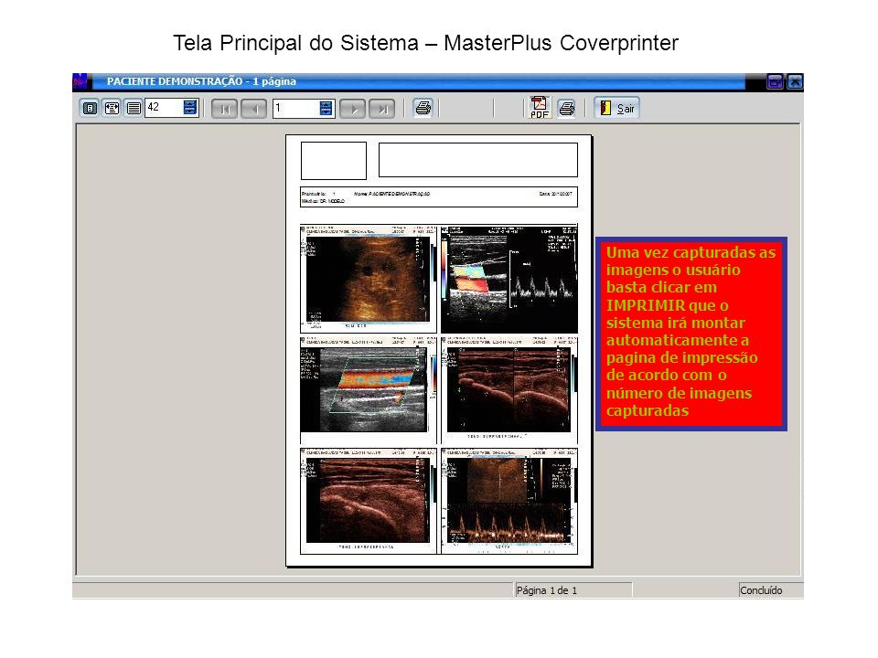 Tela Principal do Sistema – MasterPlus Coverprinter