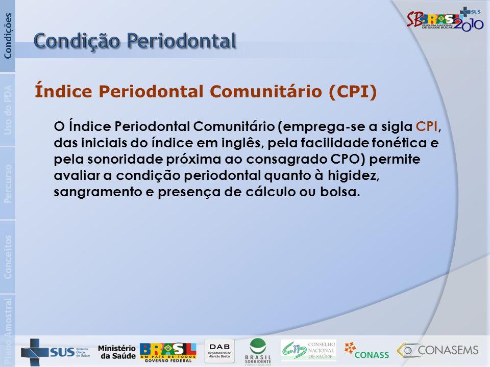 Condição Periodontal Índice Periodontal Comunitário (CPI)