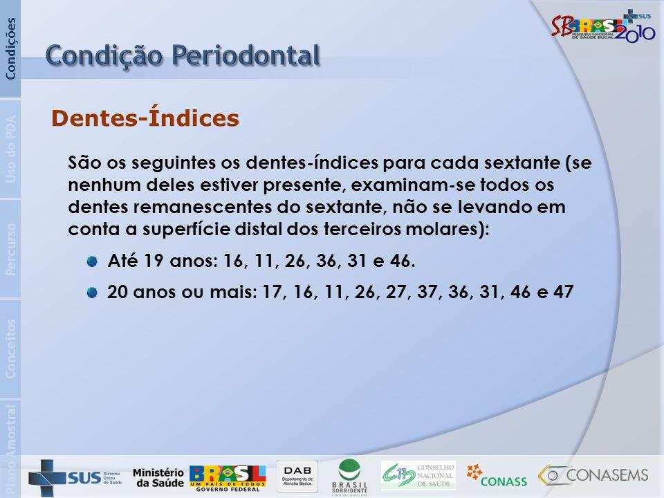 Condição Periodontal Dentes-Índices