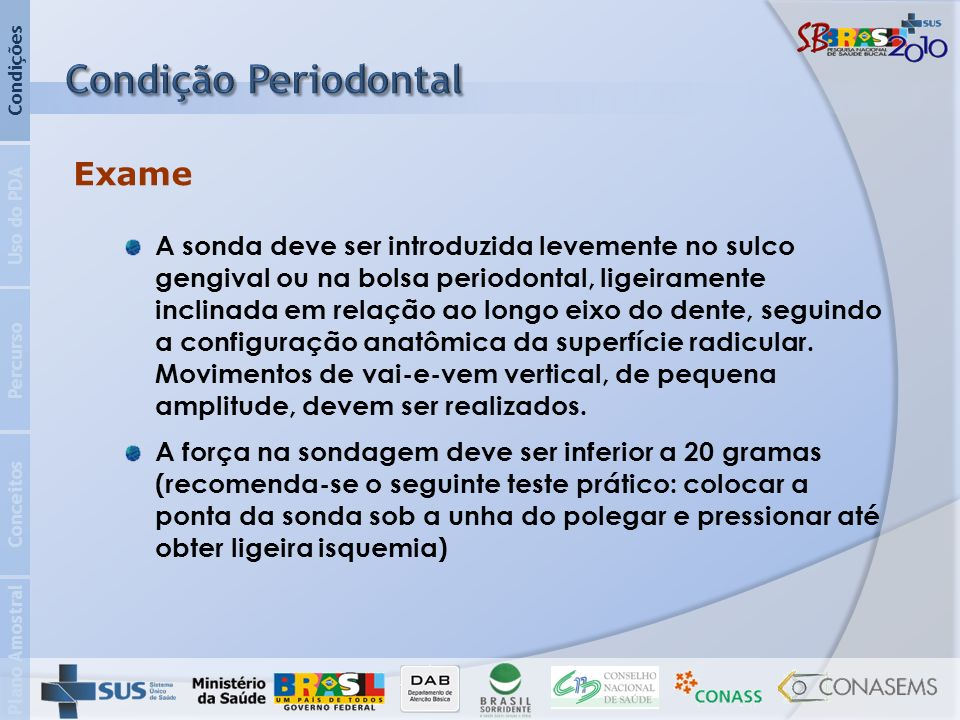 Condição Periodontal Exame