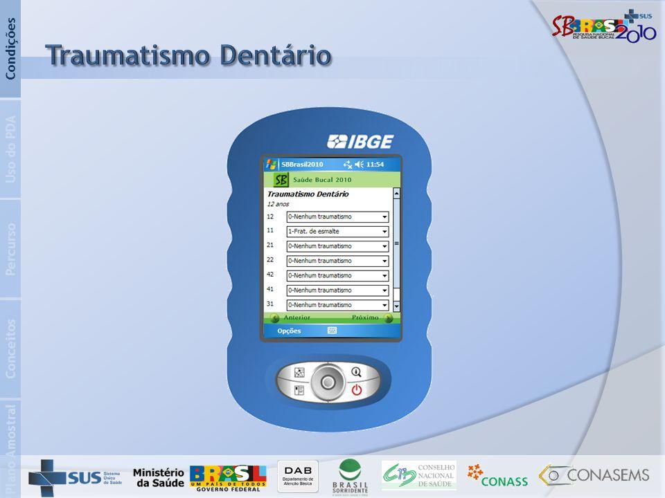 Traumatismo Dentário Condições Uso do PDA Percurso Conceitos