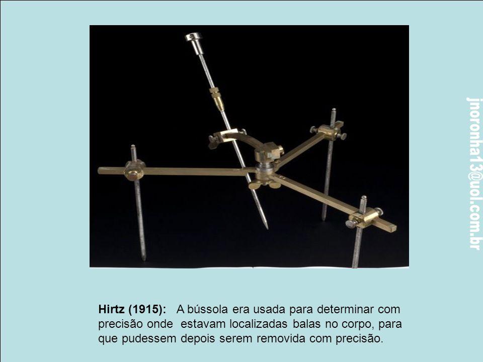 Hirtz (1915): A bússola era usada para determinar com