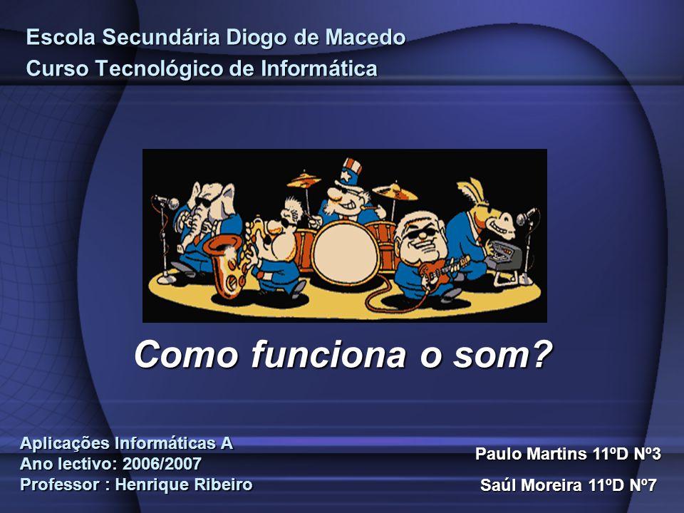 Escola Secundária Diogo de Macedo Curso Tecnológico de Informática