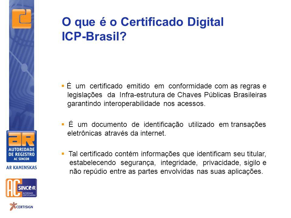 O que é o Certificado Digital ICP-Brasil
