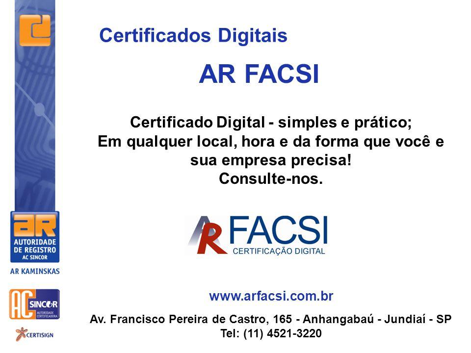 AR FACSI Certificados Digitais