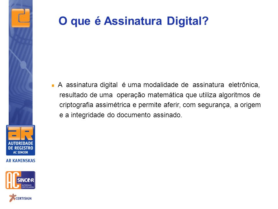 O que é Assinatura Digital